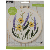 Sunflower & Lavender Embroidery Kit