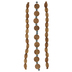 Disc & Oval Wood Bead Strands