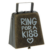 Ring For A Kiss Metal Cowbell