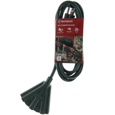 Green Outdoor Extension Cord With Power Block