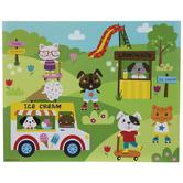 Animals At Play Sticker Scene Craft Kit
