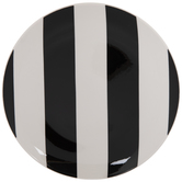 Black & White Striped Plate - Small