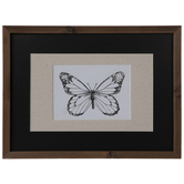 Butterfly Sketch Framed Wall Decor