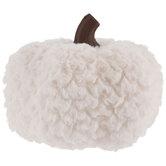 White Faux Fur Pumpkin