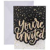 Gold Holographic Invitations