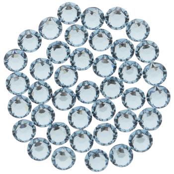 Aquamarine Swarovski Xirius Flat Back Hotfix Crystals - 12ss