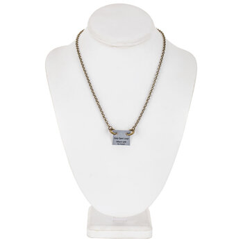 Chain Necklace With Loop Clasps - 16""