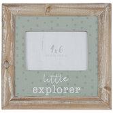 """Little Explorer Wood Frame - 4"""" x 6"""""""