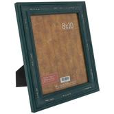 "Teal Rustic Wood Frame - 8"" x 10"""