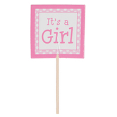 It's A Girl Cupcake Toppers