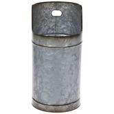 Round Galvanized Metal Planter