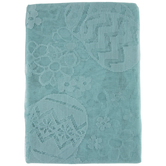 """Eggs & Flowers Lace Tablecloth - 60"""" x 104"""""""