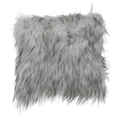 White & Black Faux Fur Pillow