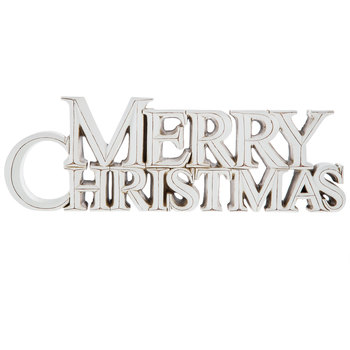 White Merry Christmas Decor