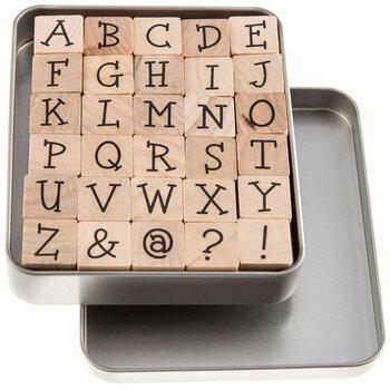 Upper Case Kids Play Alphabet Rubber Stamps