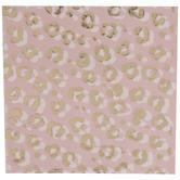 Pink & Gold Leopard Print Napkins
