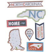 North Carolina Icons 3D Stickers