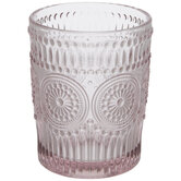 Pink Medallion Glass Cup