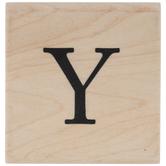 Serif Letter Rubber Stamp