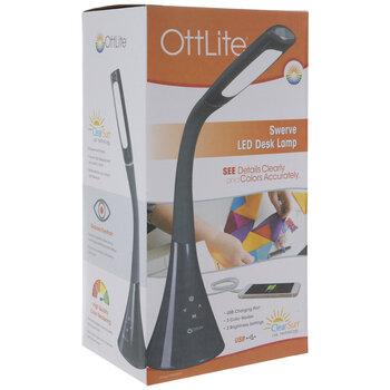 Gray Ottlite Swerve LED Desk Lamp