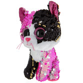 Malibu Cat Sequin Flippable Beanie Boo