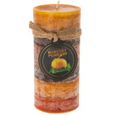 Harvest Pumpkin Layered Pillar Candle