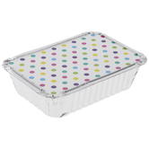 Foil Treat Containers With Polka Dot Lid