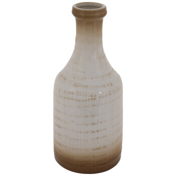 Cream & Brown Cracked Glaze Vase