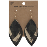 Camouflage Layered Leaf Earrings