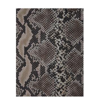 Beige Python Print Leather Trim Piece