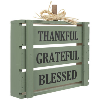 Thankful, Grateful & Blessed Wood Pallet Pumpkin