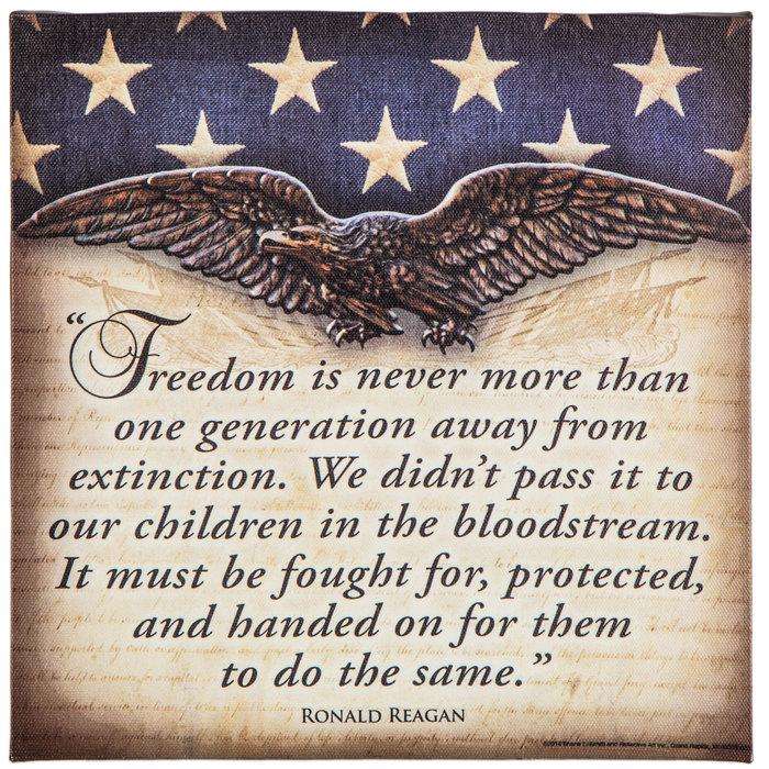 Ronald Reagan Freiheit Zitat Leinwand-Wand-Dekor |  Hobby-Lobby |  1157585