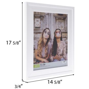 White Stepped Wall Frame