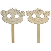 Monkey Wood Masks
