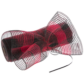 Buffalo Check Pull-N-Puff Deco Mesh Ribbon - 10""