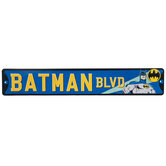 Batman Boulevard Metal Sign