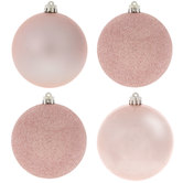 Blush Pink Matte, Shiny & Glitter Ball Ornaments