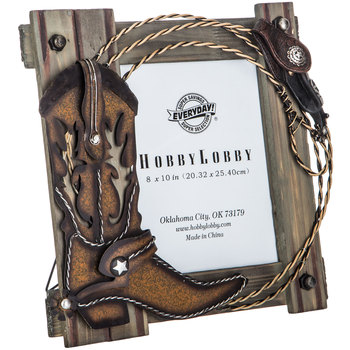 "Cowboy Wood Wall Frame - 8"" x 10"""