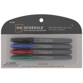 Basic Fine Bullet Tip Dry Erase Markers - 4 Piece Set