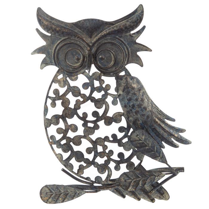Antique Blue Cutout Owl Metal Wall Decor Hobby Lobby 335794