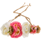 Pink & White Festival Flowers Headband