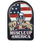 Muscle Up America Metal Sign