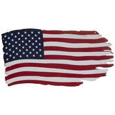 Distressed American Flag Metal Wall Decor