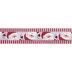 Santa Claus Striped Wired Edge Ribbon - 1 1/2