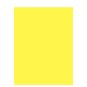 """Neon Yellow Smooth Cardstock Paper - 8 1/2"""" x 11"""""""