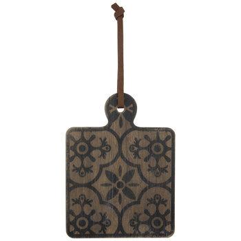 Moroccan Print Paddle Wood Wall Decor
