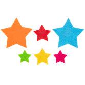 Bright Felt Star Stickers