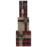 Red & Black Buffalo Check Gift Wood Decor