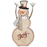 Joy Snowman With Metal Scarf