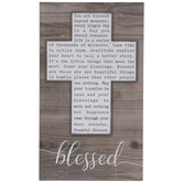 Blessed Cross Wood Wall Decor